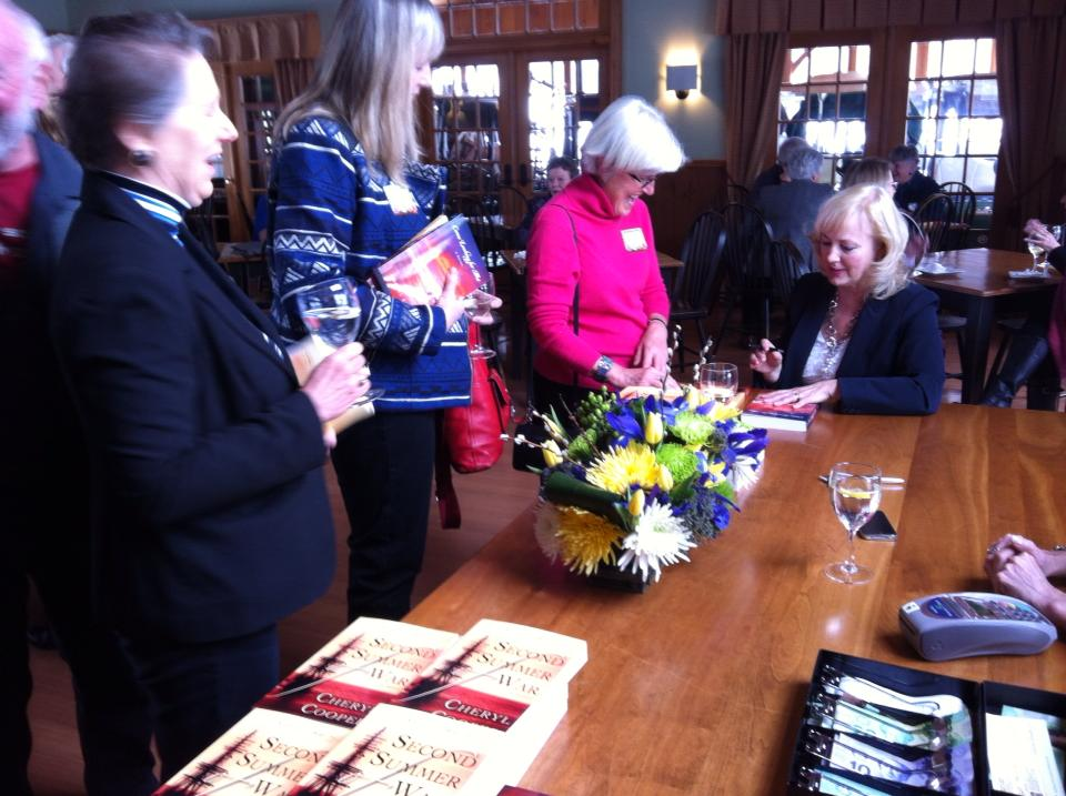 Signing Jinny Flye's copy of Second Summer of War