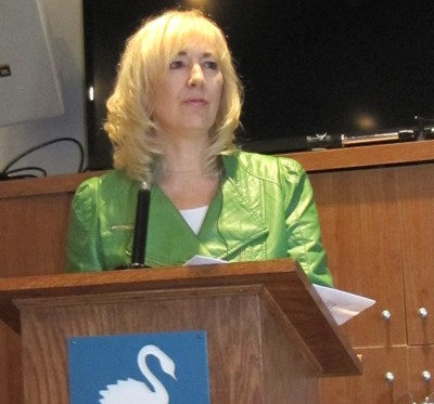 Speaking at Swan Lake Probus, Markham, 2014