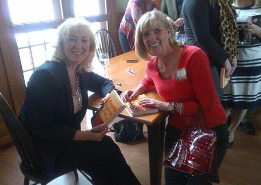 With artist Sue Evans
