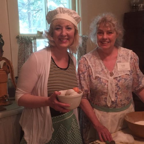 Cooking in Marilla's kitchen with museum owner, Linda Hutton