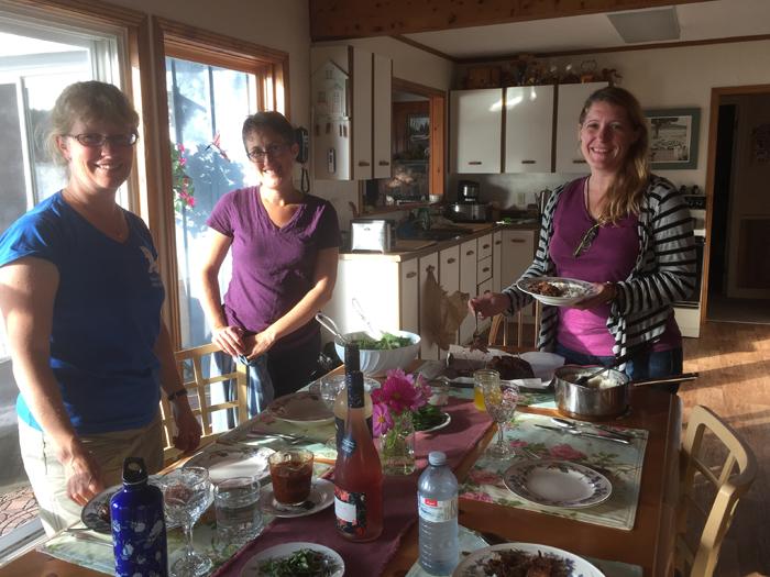 With Paula, Sasha & Dawn