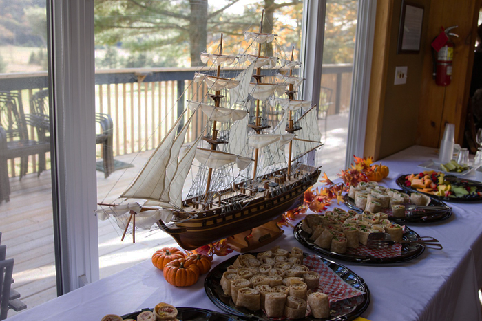 The USS Constitution at the food table!