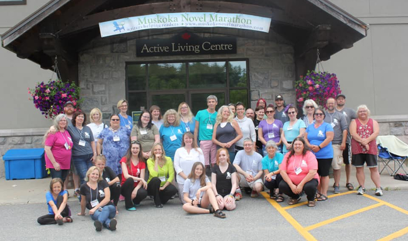 Participants of the 2019 Muskoka Novel Marathon